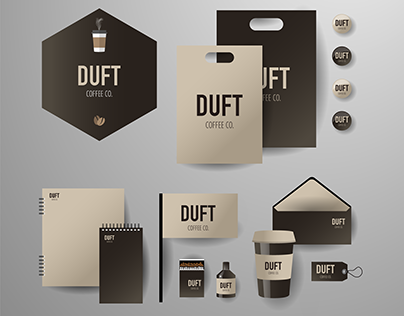 Duft Coffee Co. Business Identity Design