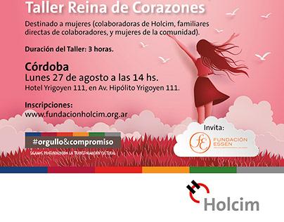 Afiche Taller Reinas de Corazones, Holcim Argentina