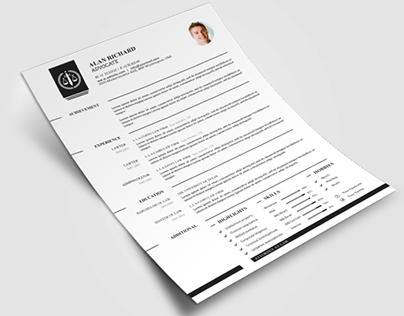 Creative Lawyer Resume CV #5