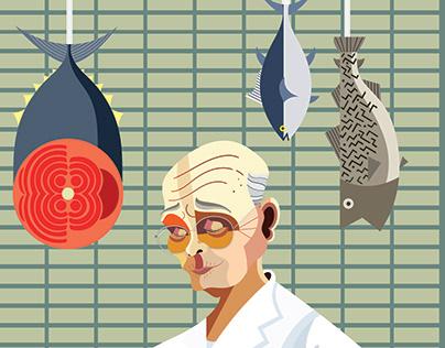 """Jiro Ono """"Jiro Dreams of Sushi"""""""