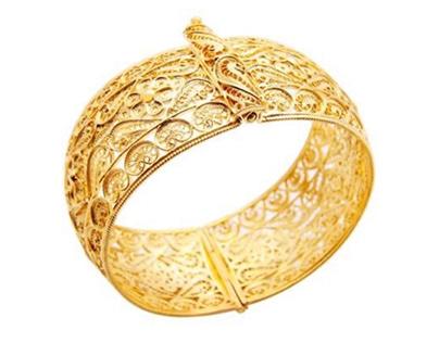 Indian Bracelet embroidered 22k
