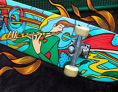Skateboard's print