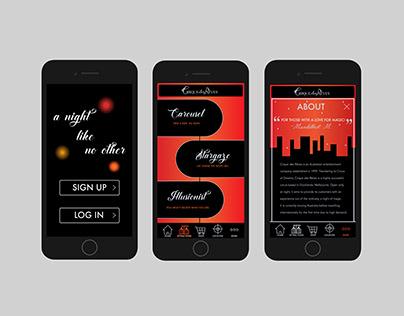 Cirque des Rêves - App Design