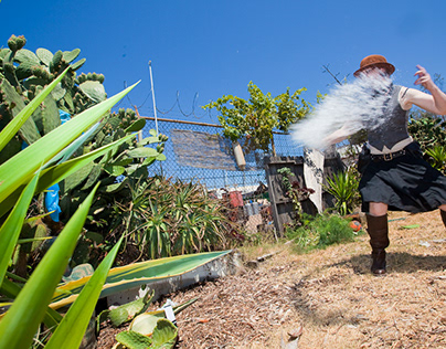 Water Fight with Cactus