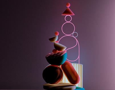 Balancing Totems - 3D explorations