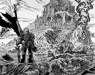 Warhammer 40,000 Games Workshop Novels interior art