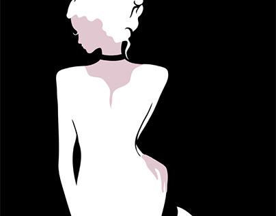 Stylish beautiful model for fashion design. Luxury
