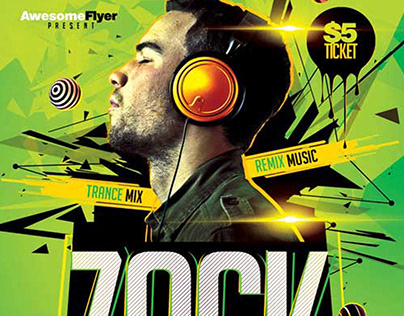 DJ LIVE PERFORMANCE FREE FLYER TEMPLATE