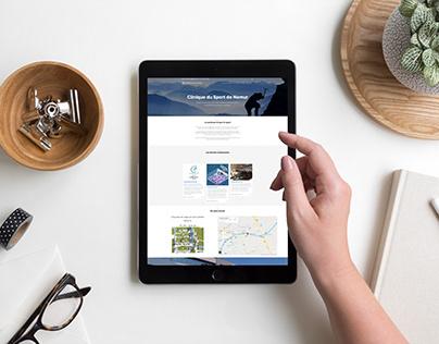 Wordpress website cliniquedusport.be