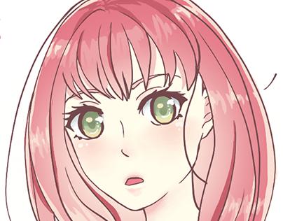 Ilustração Cute Anime Girl