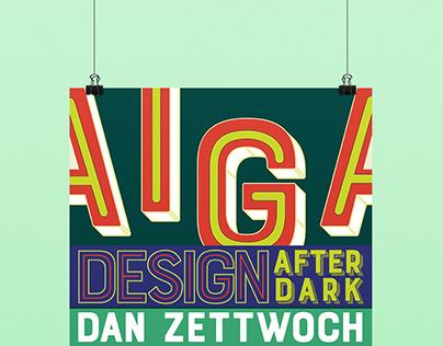 AIGA Maryville, Design After Dark Series Poster 2