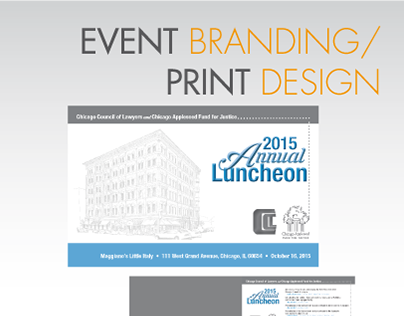Event Branding / Print Design 2015 Annual Luncheon