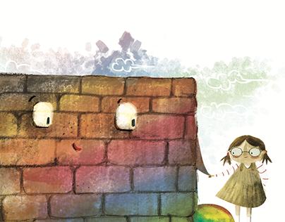 """""""Lisa e il muro Arcobaleno """" children's book"""