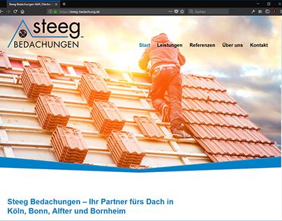 Webseite für Steeg-Bedachungen