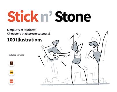 Stick n Stone illustrations