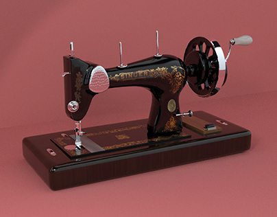 3D Modeling Techniques - Sewing Machine