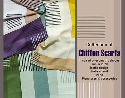 Surface textile design | Chiffon scarf digital print