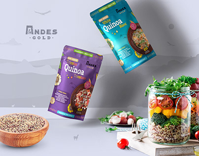Andes Gold - White & Tricolor Quinoa packaging