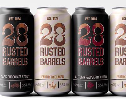28 Rusted Barrels Brewery Beer Packaging and Branding