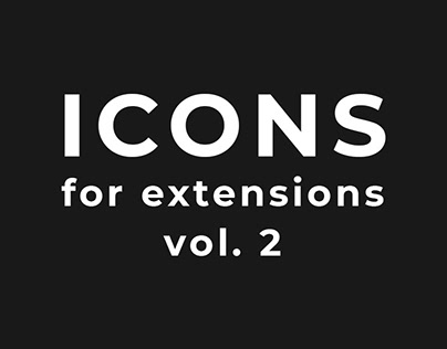 Icons for extensions vol. 2