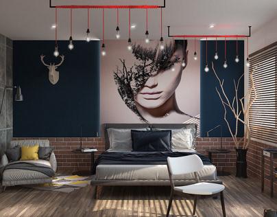 modern rustic boy bedroom