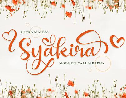 SYAKIRA - BEAUTIFUL MODERN CALLIGRAPHY