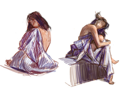 Female figure studies