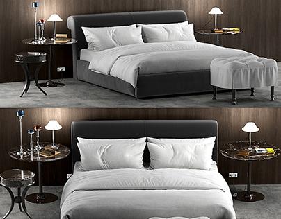 3D Baxter Alfred Soft Bed Model 110 Free Download