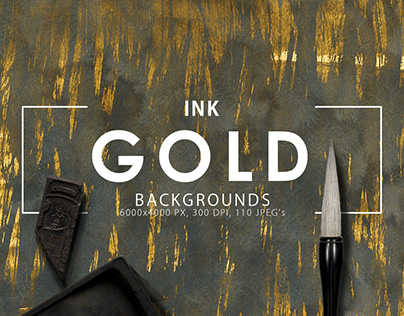 Gold + Ink Backgrounds