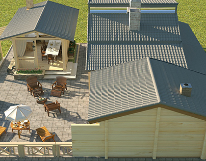 Services of 3D visualization of the exterior.