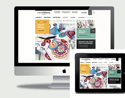 #Carré blanc : Site e-commerce ( compétition )