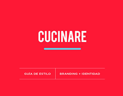 Diseño de la marca Cucinare y manual de estilo