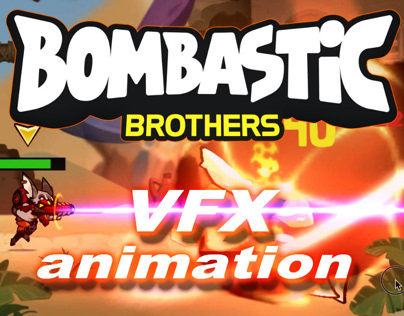 "2D FX ANIMATION FOR ""BOMBASTIC BROTHERS"""