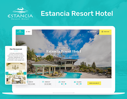 Website Design for Estancia Resort Hotel