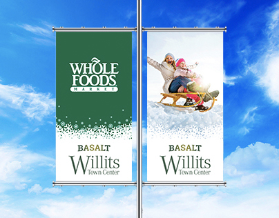 Willits Town Center – Winter Banners