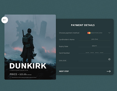 Daily Ui - Credit card checkout page