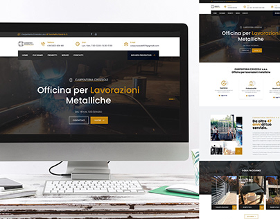 Realizzazione sito web www.carpenteriacrozzole.com