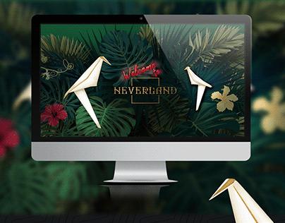 Neverland Website design and branding