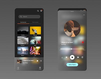 Music Player Glassmorphism UI design