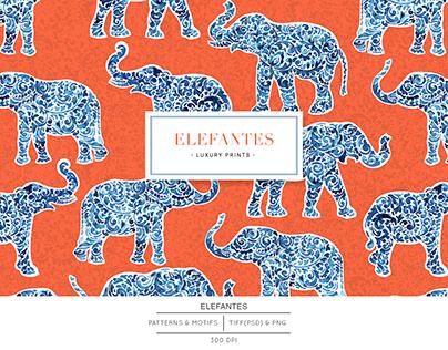 Elefantes, Luxury paisley style elephant Print!