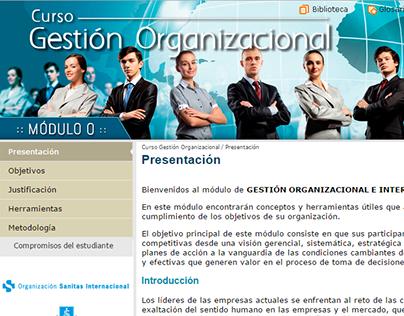Sitio - Curso Gestión Organizacional