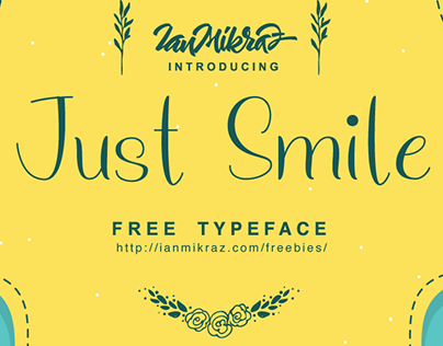 Just Smile - Free font