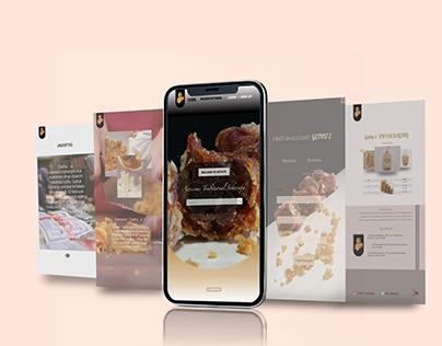 Mockup Website on mobile