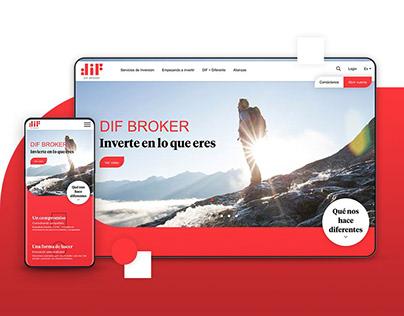DIF Broker — Website