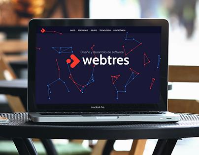 Rediseño sitio WEBTRES, versión escritorio