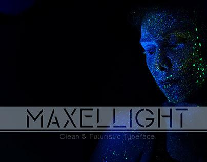MAXELLIGHT-Clean & Futuristic Typeface