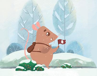 """""""Mr Rat"""" animated postcard"""