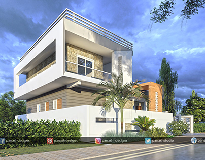 Modern House Design   Two Storey House Elevation