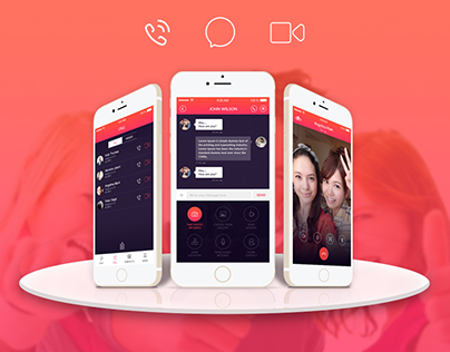 Chat, Call, Video Call App design concept.