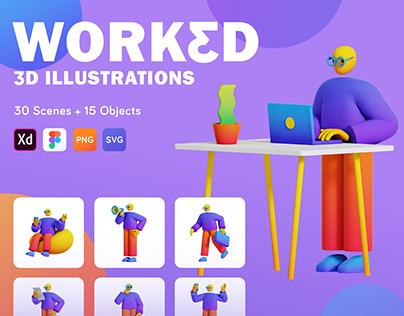 WORKED 3D Illustrations